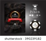 casino card collection vintage...   Shutterstock .eps vector #390239182