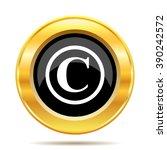copyright icon. internet button ... | Shutterstock .eps vector #390242572