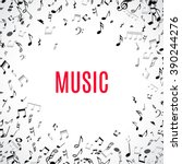 abstract musical frame and... | Shutterstock .eps vector #390244276