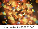 colorful circles of light... | Shutterstock . vector #390251866