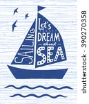 Let's Dream About Sea. Hand...