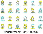 set of avatars. flat style.... | Shutterstock . vector #390280582