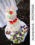 wedding cake   Shutterstock . vector #390290068