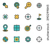 trendy flat line icon pack for... | Shutterstock .eps vector #390299845