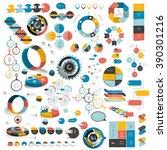 mega set of infographics... | Shutterstock .eps vector #390301216