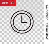 time clock icon vector.