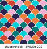 Abstract Colorful Scallop...