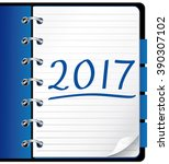 2017 agenda. blue office...