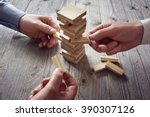 planning  risk and team... | Shutterstock . vector #390307126
