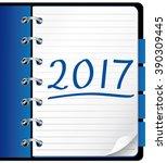2017 agenda. blue office...
