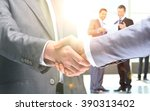 close up of business people... | Shutterstock . vector #390313402