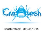 vector sign. car wash.  | Shutterstock .eps vector #390314245
