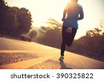 young fitness woman runner... | Shutterstock . vector #390325822