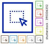 set of color square framed drag ...