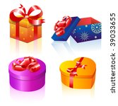 set of colorful vector gift... | Shutterstock .eps vector #39033655