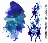 dancing ballerina in blue ...   Shutterstock . vector #390337846