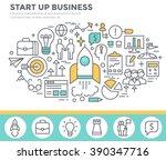 start up business concept... | Shutterstock .eps vector #390347716