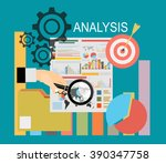 concepts for business planning... | Shutterstock .eps vector #390347758