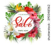 summer sale concept. summer... | Shutterstock .eps vector #390348562