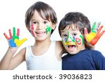 two happy brothers | Shutterstock . vector #39036823