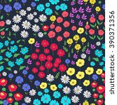 seamless floral  background.... | Shutterstock .eps vector #390371356