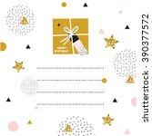 creative birthday card. simple... | Shutterstock .eps vector #390377572