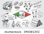 different types of authentic...   Shutterstock .eps vector #390381352