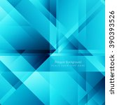 blue color polygonal shape... | Shutterstock .eps vector #390393526