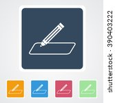 square flat buttons icon of... | Shutterstock .eps vector #390403222
