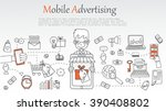mobile advertising banner....   Shutterstock .eps vector #390408802