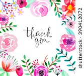 greeting card with floral... | Shutterstock .eps vector #390412072