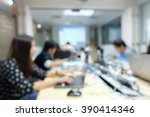 blurred group of employee... | Shutterstock . vector #390414346