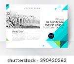 brochure  leaflet  magazine... | Shutterstock .eps vector #390420262