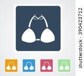 square flat buttons icon of... | Shutterstock .eps vector #390423712