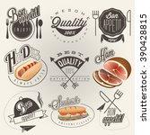 bon appetit  enjoy your meal ...   Shutterstock .eps vector #390428815