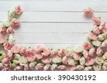 background with little roses... | Shutterstock . vector #390430192