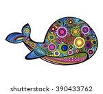 Tribal Patterned Whale For...
