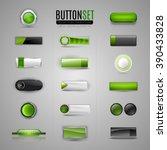 set of various buttons. vector... | Shutterstock .eps vector #390433828