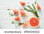 summer refreshing drink and... | Shutterstock . vector #390434332
