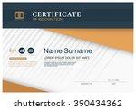 certificate of achievement... | Shutterstock .eps vector #390434362