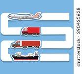 transportation template for... | Shutterstock .eps vector #390435628
