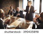 meeting corporate success... | Shutterstock . vector #390435898