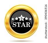 5 star icon. internet button on ... | Shutterstock .eps vector #390436516