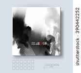 abstract inkblot background.... | Shutterstock .eps vector #390442252