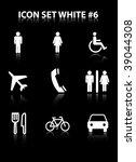 icon set white  6 | Shutterstock .eps vector #39044308