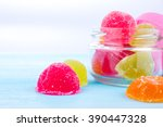colored sweets. candy and jelly ... | Shutterstock . vector #390447328