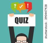 quiz  | Shutterstock .eps vector #390447928