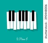 Piano. Flat Icon