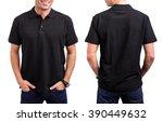 man's black t  shirt  | Shutterstock . vector #390449632