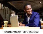 portrait of a smiling black...   Shutterstock . vector #390450352